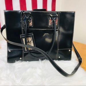 Wilson's Leather XLarge Laptop Black Briefcase Bag